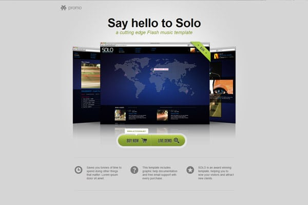 Promo - Landing Page for Digital Product Sales