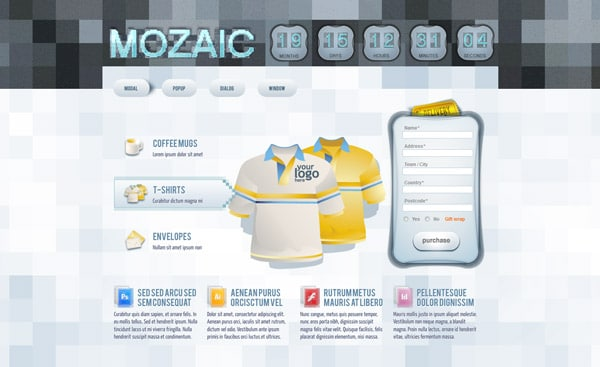 Mozaic Landing Page Template