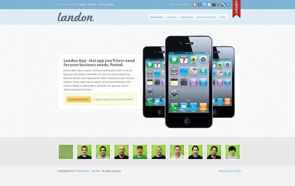 Landon - Business Landing Page