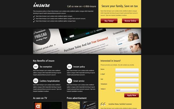 Insure Landing Page