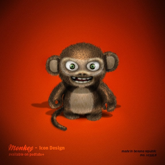 Create an Evil 3D Monkey Icon in Photoshop