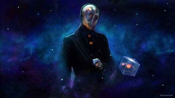 Abstract Outer Space Suit Cube Masonic Dan Luvisi