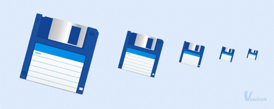 Create a Vector Floppy Disk Icon