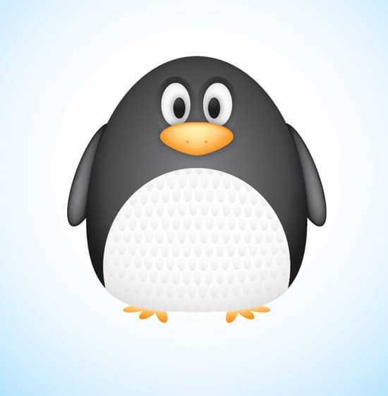 Create a Cute Vector Penguin Character in Illustrator