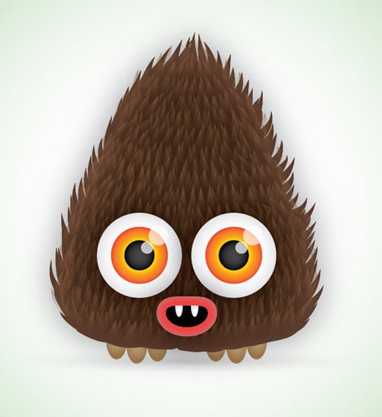 How To Create a Cute Hairy Vector Monster Character