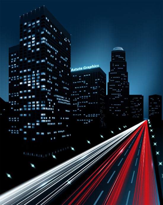 How to Create a Night City Illustration Using Adobe Illustrator and Phantasm CS