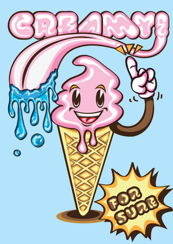 Create a Creamy Ice Cream Poster on Illustrator