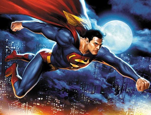 Superman in flight