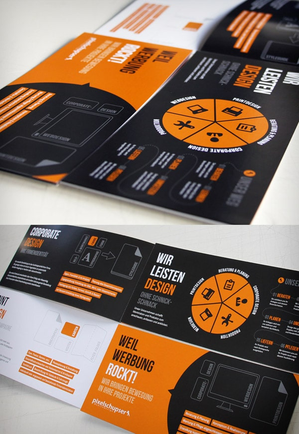 Brochure design 50 brilliant layouts for Brochure design layout ideas