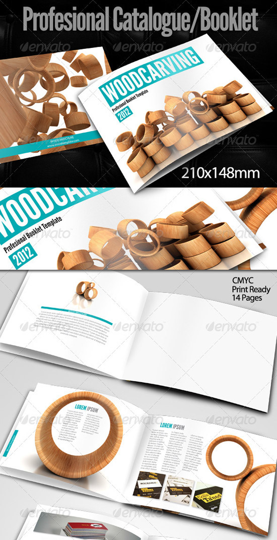 Print Templates - Wood Brochure Template