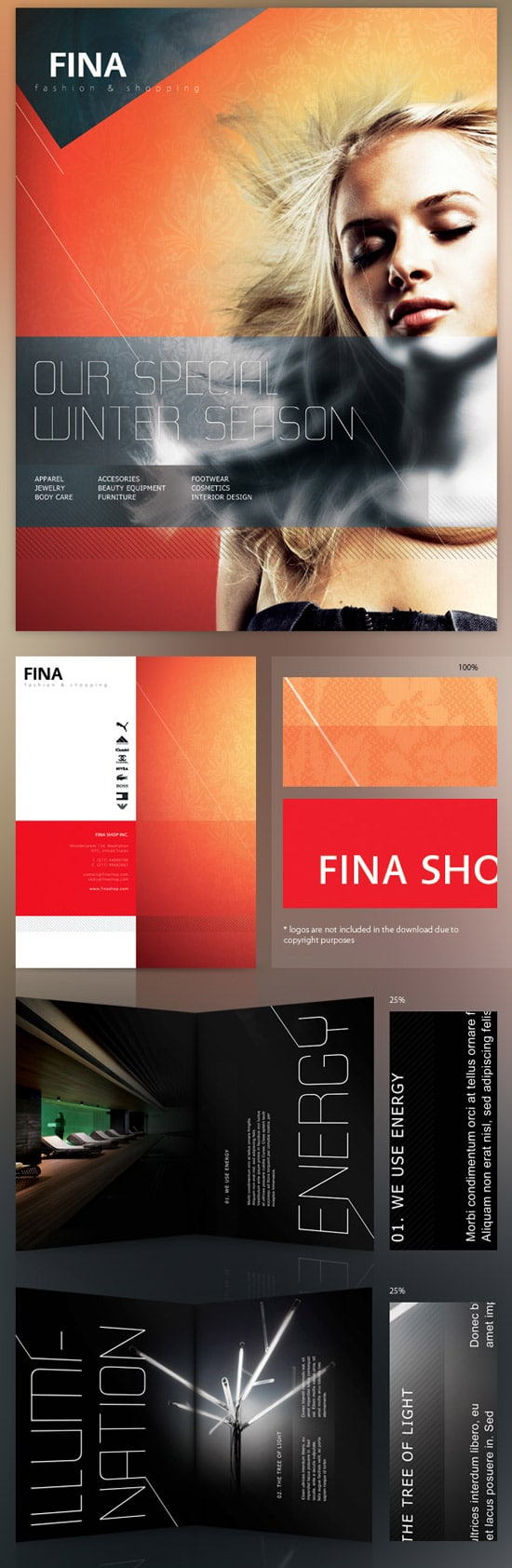 Fina Brochure - Fashion&Shopping 4 Templates