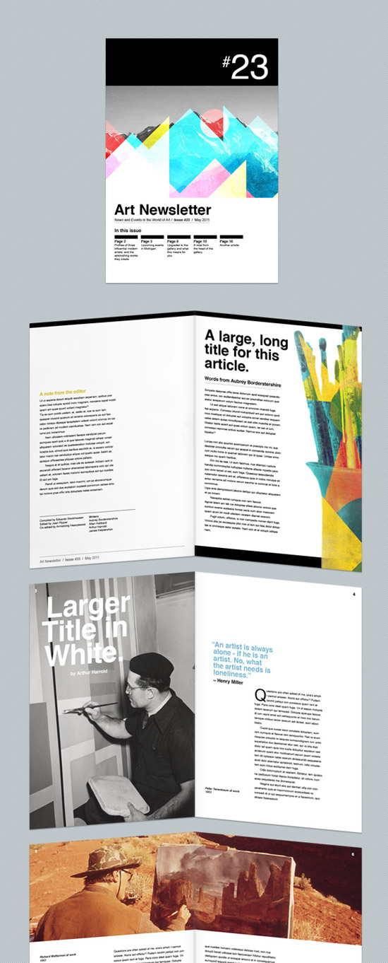 Art Themed Newsletter/Magazine Template