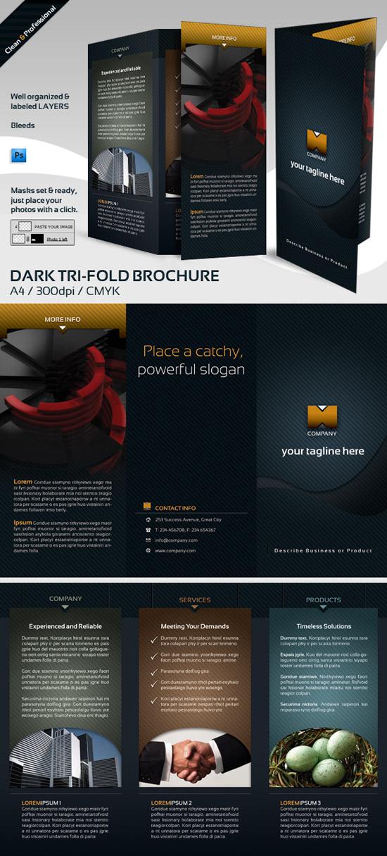Dark Tri-Fold - Brochures