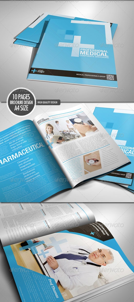 Print Templates - Professional medical corporate brochure