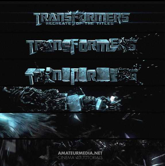 Transformers Titles in Cinema 4D