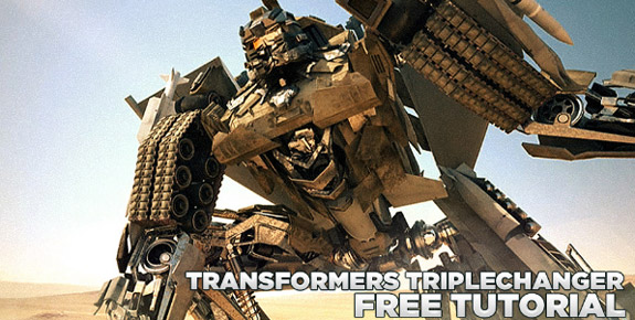 Transformers triple changer Cinema 4D Tutorial