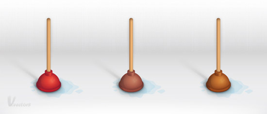 Create a Detailed Toilet Plunger Illustration