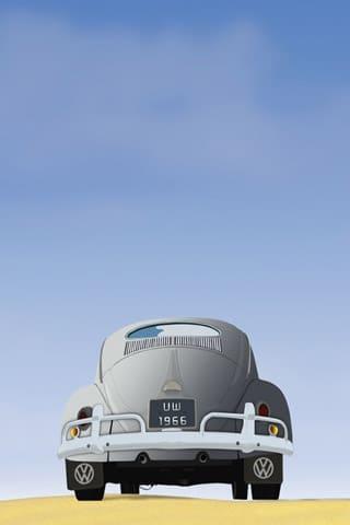 Old Volkswagon Beetle Vector