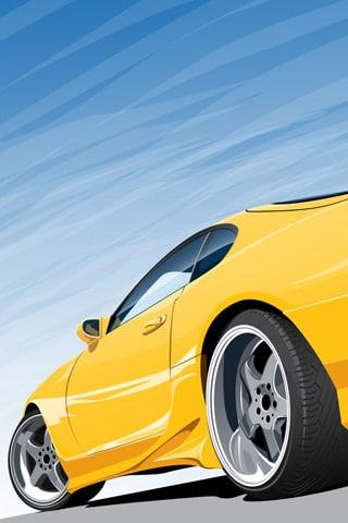 Yellow Toyota Supra Vector