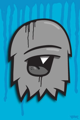 Grey Pacman Character
