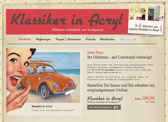 Sixrevisions.com 40 Beautiful Examples of Vintage and Retro in Web Design