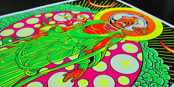 'Shamanaut': Black Light poster