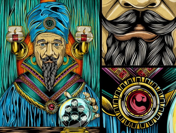 Zoltar Illustration for Wired Magazine Italy