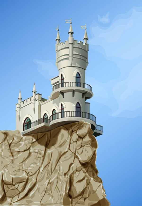 Create a Fairy Castle Using Adobe Illustrator and DrawScribe Plugin – Dynamic Sketch Tool