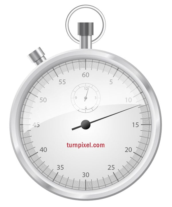 Create a vector stop watch icon