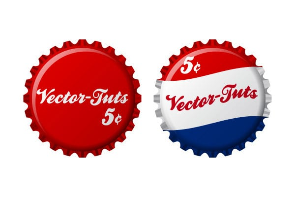 How to Create Vintage Vector Bottle Caps In Illustrator CS4