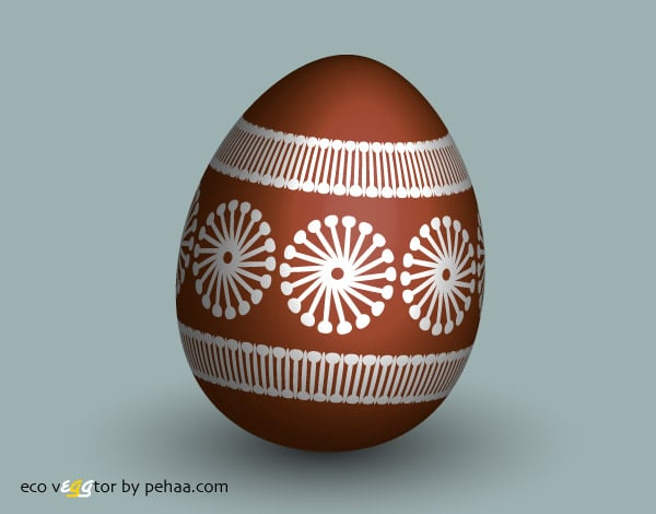 Create and color an eco easter egg in Adobe Illustrator