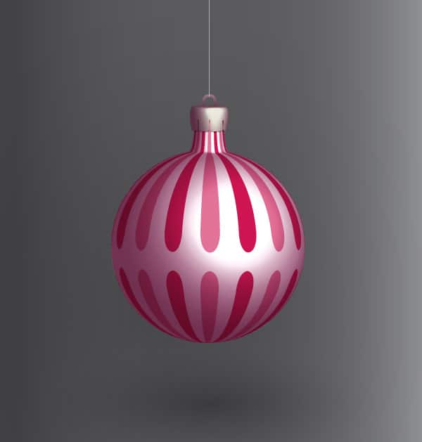 Create a vector Christmas ball