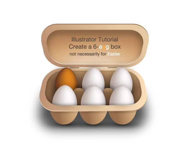 Create a 6-egg box