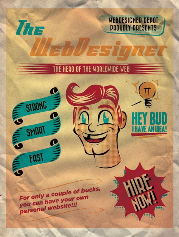 Create a 50's Ad Poster in Illustrator