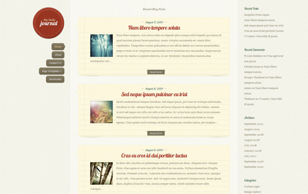 DailyJournal Responsive Blog WordPress Theme