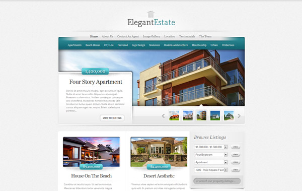 ElegantEstate Real Estate WordPress Theme