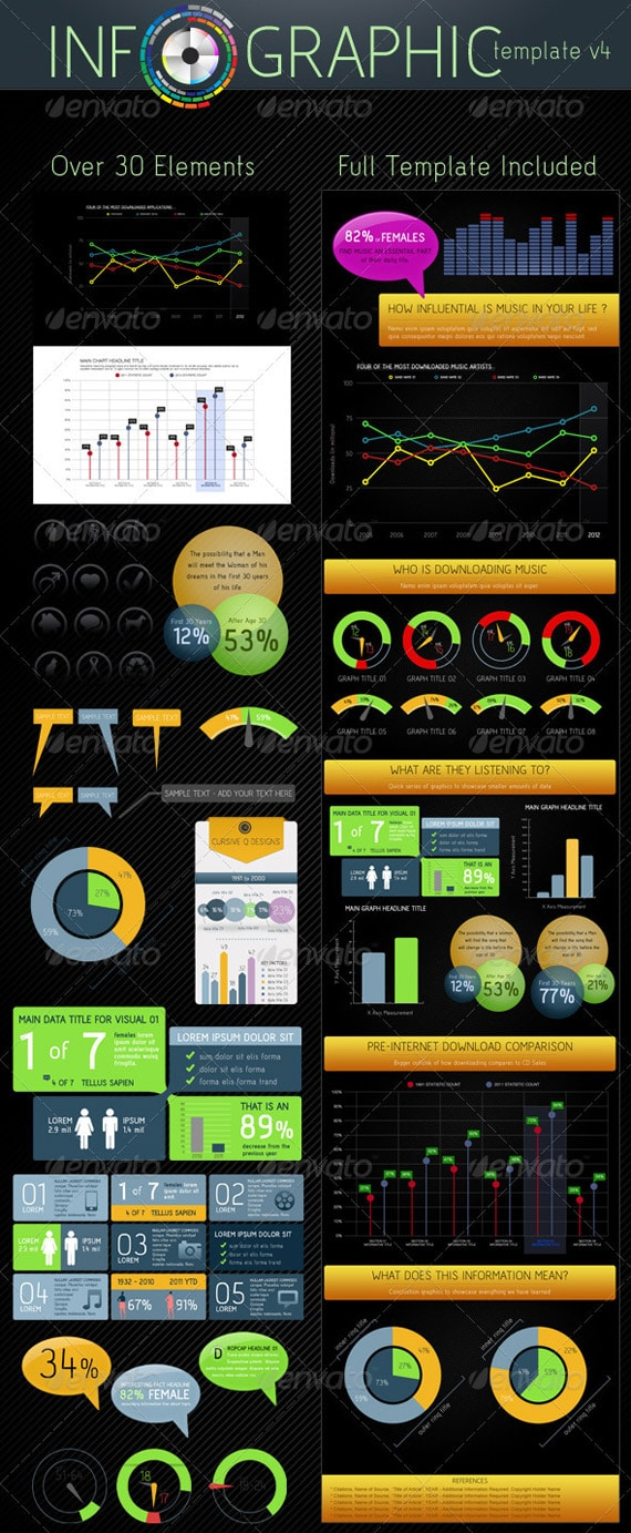 Free infographic survey powerpoint template