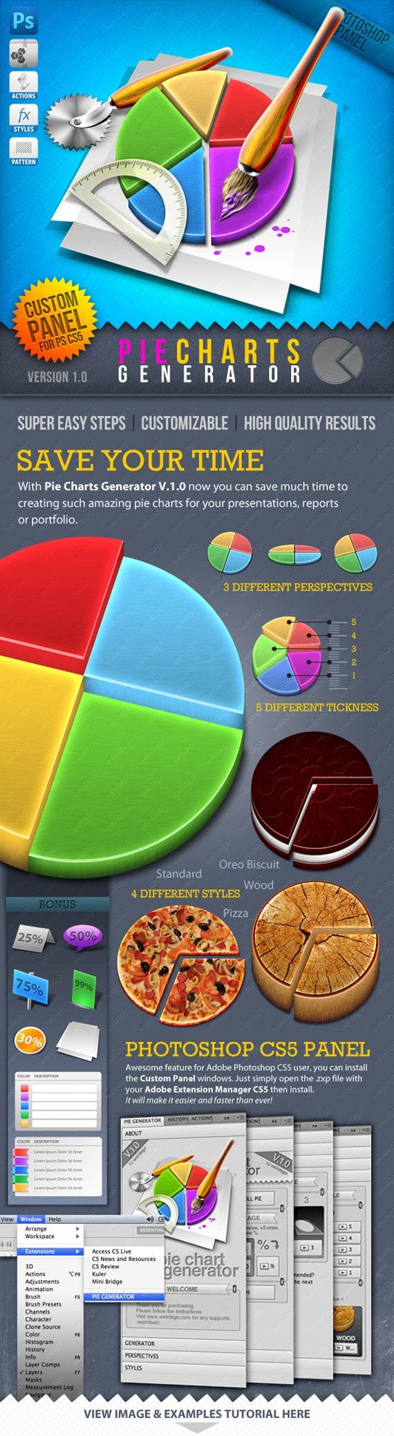 Infographic Tool Series: 3D Pie Charts Generator