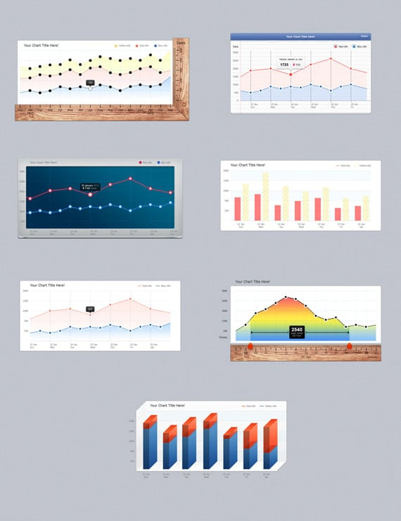 Bar Charts (Infographic Elements)