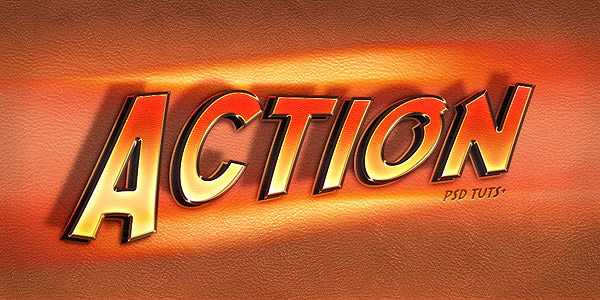 Quick Tip: Create an 'Action' Text Effect in Photoshop