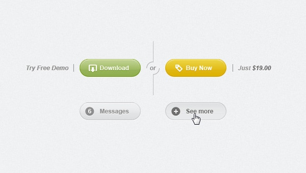 Rounded Psd Web UI Set