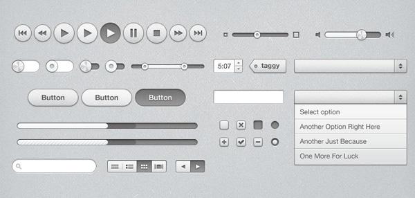 iTunes Inspired UI Kit (PSD)