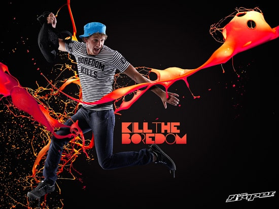 KILL THE BOREDOM - DOUBLE PAGE SPREAD FOR LEE PIPES SUMMER CAMPAIGN