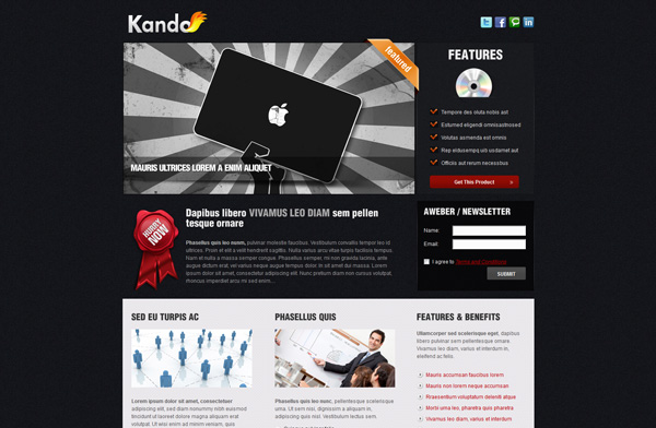 Kando - 4 variations - Landing Page / Minisite