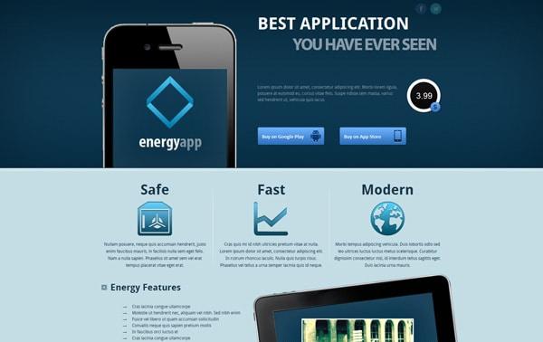 Energy App - Landing Page
