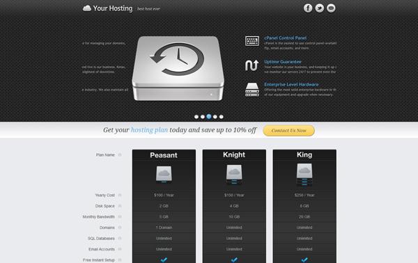 mfx - Hosting Landing Page