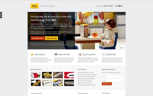 Klix Landing Page