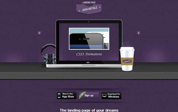 Java Royale - Professional Landing Page