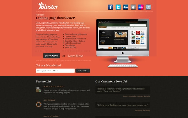 Blaster Landing Page Package