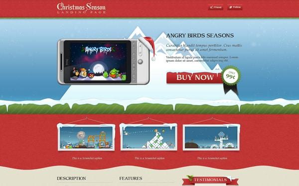 Christmas Season Landing Page Template
